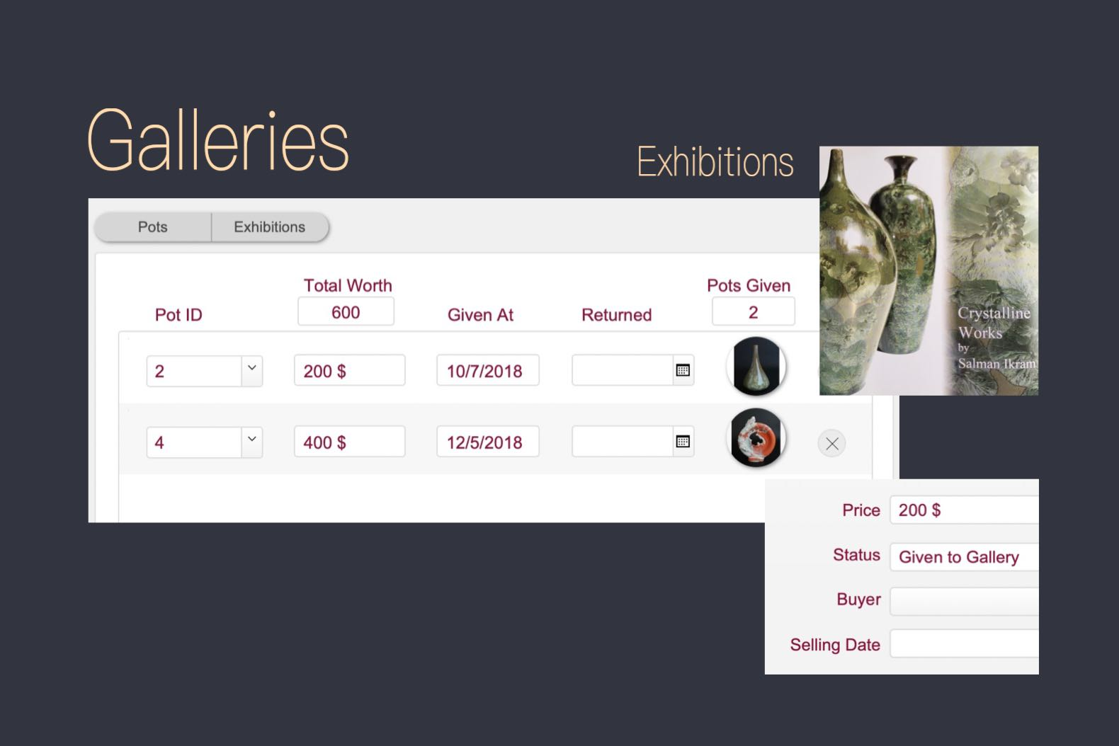 Ceramics and pottery exhibitions